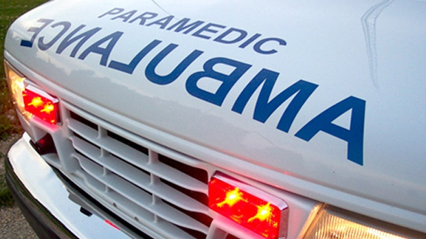 A 25-year-old man was taken to hospital Wednesday after falling from an apartment balcony.