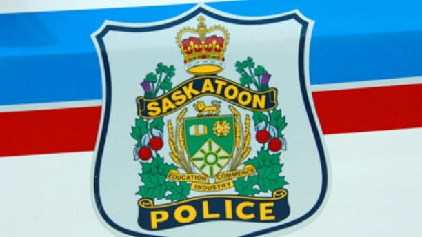 Saskatoon police officers witnessed a stolen car collide with another vehicle Thursday evening.