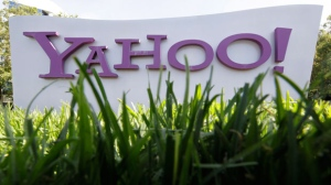 A Yahoo sign stands outside the company's offices in Santa Clara, Calif. May 20, 2012. (AP / Paul Sakuma)
