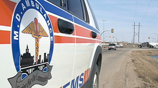 Saskatoon paramedics responded to a series of collision Thursday night.