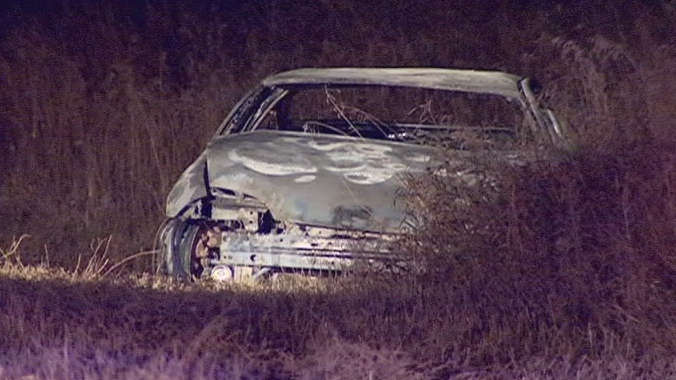 Saskatoon firefighters found a body after extinguishing a car fire early Wednesday